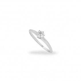 18k White Gold Round Brilliant Cut Diamond Ring 0.40ct H/VS2